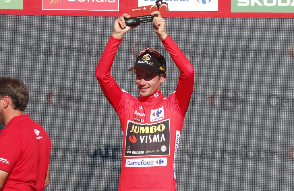 Cycling:  La Vuelta Stage 10 RED LEADER JERSEY ROGLIC Primoz  ROGLIC, Slovenia