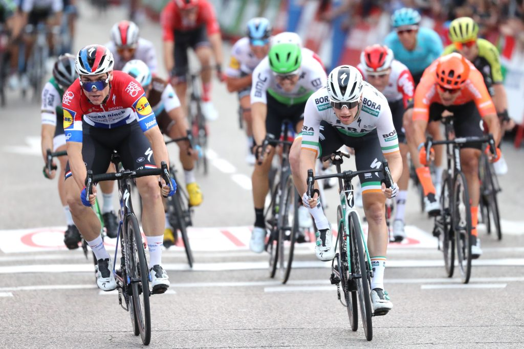 Tour of Spain 2019  Stage 21 winner  Fabio  JAKOBSEN (NED) (left) beats  Sam BENNETT  (IRL)
